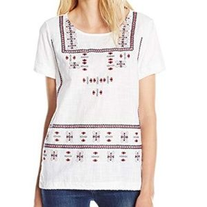 Lucky Brand Embroidered Top Sz S